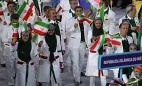 Parade of Iranian athletes in Rio Olympic 2016 + video