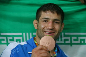 Iran's Saeid Abdevali wins bronze in men's Greco-Roman wrestling