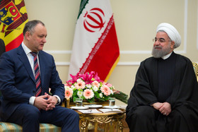 Iranian President and FM meet Moldovan President