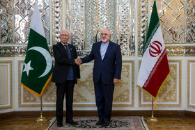 Zarif meets Pakistan PM's foreign policy adviser in Tehran
