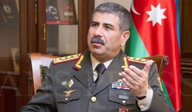 Azerbaijani defense minister arrives in Tehran