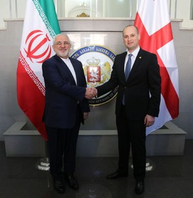 Iranian, Georgian FMs meet in Tbilisi
