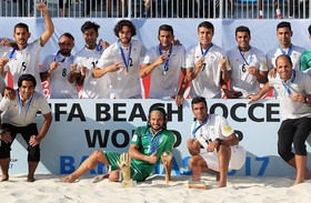 Iran finishes third in Beach Soccer World Cup