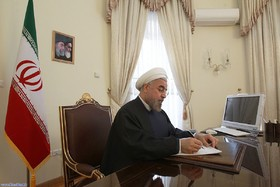 President Rouhani congratulates Syria on national day