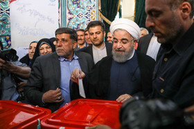 Early results of Iran's presidential election, Rouhani leads