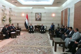 Iranian officials meet Syrian PM