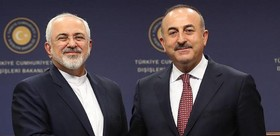 Iran FM meets Turkish counterpart in Baku