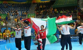 Le volley-ball assis masculin d'Iran est champion d'Asie