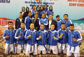 Iranian Karate team wins Asian Championships title