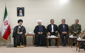Rouhani and his cabinet meet with Ayatollah Khamenei