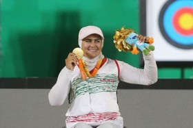 The World Archery gold medal for an Iranian