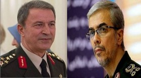 Iranian, Turkish Chiefs of General Staff hold phone call