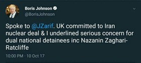UK Foreign Secretary reaffirms commitment to JCPOA