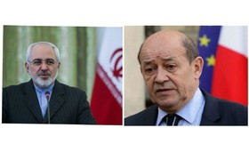 Iranian, French FMs hold phone talks