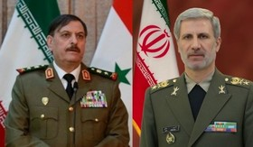Iranian, Syrian defense ministers hold phone call