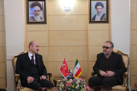 Turkish interior minister Soylu arrives in Iran