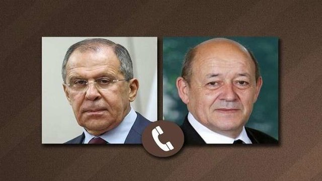 Russian, French FMs stress on full implementation of Iran's nuclear deal