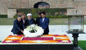 Iranian President pays tribute to India's political, spiritual leader Gandhi