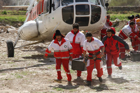 Transferring the bodies of the Turkish plane crash