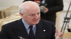 Staffan de Mistura to hold talks with Iranian officials in Tehran