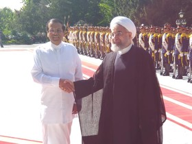 President of Sri Lanka arrives in Tehran