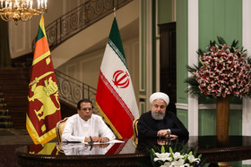 The meeting between the Sri Lankan President and the Iranian President / Mr Sirisena was officially welcomed by Hassan Rouhani at Sa'dabad Complex.