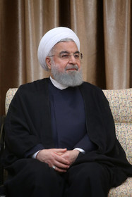 The Iranian President Hassan Rouhani / The Sri Lankan President met with The Supreme Leader of Iran in the presence of the Iranian President.