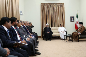 The Sri Lankan President met with The Supreme Leader of Iran in the presence of the Iranian President.