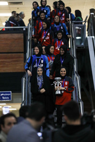 The welcoming ceremony of the Champions of Asia / Iran women's national futsal team became champion at the 2018 AFC Women's Futsal Championship with a 5-2 win over Japan in the final match.