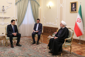 Lebanese Ambassador in Tehran presented his credentials to the Iranian President Hassan Rouhani.