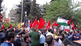 Iranians rally against brutal killing of Palestinians