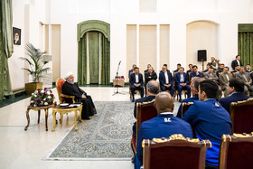 The members of Iran national football team and coaching staff met with the Iranian President Hassan Rouhani on Sunday May 20 in Tehran.