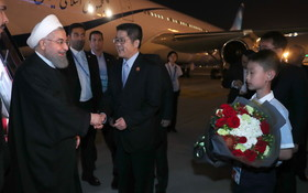 President Rouhani in China to attend SCO summit