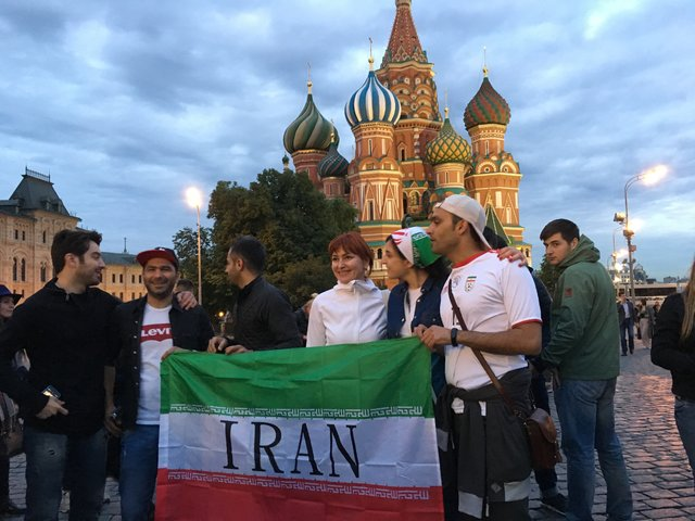 Iranian fans in Moscow