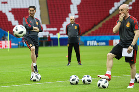 Iran, Spain hold training session before encounter