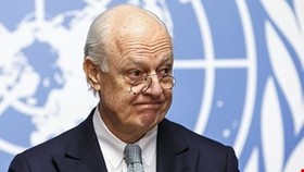 Iran, Russia, Turkey to meet U.N. envoy Staffan de Mistura