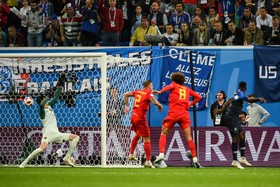 France and Belgium played against each other in the semi-final of the World Cup and it was 1-0 to Belgium.