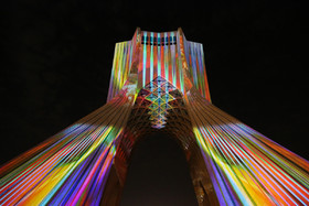 Projection mapping on Azadi Tower