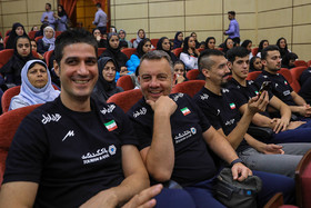 The members of National Volleyball team of Iran / The 2018 Asian Games is about to start and because of that a ceremony was held on Tuesday July 31 for Iran's Sports Delegation that is going to take part in this tournament.