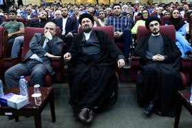Iran's Minister of Sports and Youth Affairs Masoud Soltanifar (left) and the Iranian cleric Hassan Khomeini (middle) / The 2018 Asian Games is about to start and because of that a ceremony was held on Tuesday July 31 for Iran's Sports Delegation that is going to take part in this tournament.