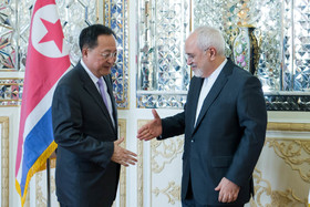 The last meeting was held between the Iranian Foreign Minister Mohammad Javad Zarif and the Foreign Minister of North Korea Ri Yong-ho.