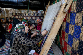 Weaving carpets by women's of Koulivand tribe of Lorestan province / Although modern life has impacted on traditional customs especially on weddings, there are some families in Lorestan province who follow these customs.
