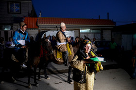 Groom's parents accompanied their son as he was going to bride's house. Although modern life has impacted on traditional customs especially on weddings, there are some families in Lorestan province who follow these customs.