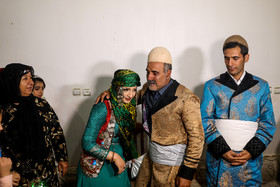 Bride was welcomed by groom's parents. Although modern life has impacted on traditional customs especially on weddings, there are some families in Lorestan province who follow these customs.