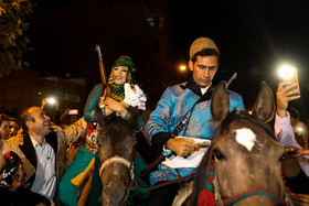 Bride and groom carry guns while riding horses as a sign of bravery and endurance. Although modern life has impacted on traditional customs especially on weddings, there are some families in Lorestan province who follow these customs.