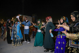 Traditional dance of bride and groom during the wedding ceremony / Although modern life has impacted on traditional customs especially on weddings, there are some families in Lorestan province who follow these customs.