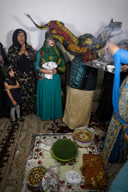 Although modern life has impacted on traditional customs especially on weddings, there are some families in Lorestan province who follow these customs.