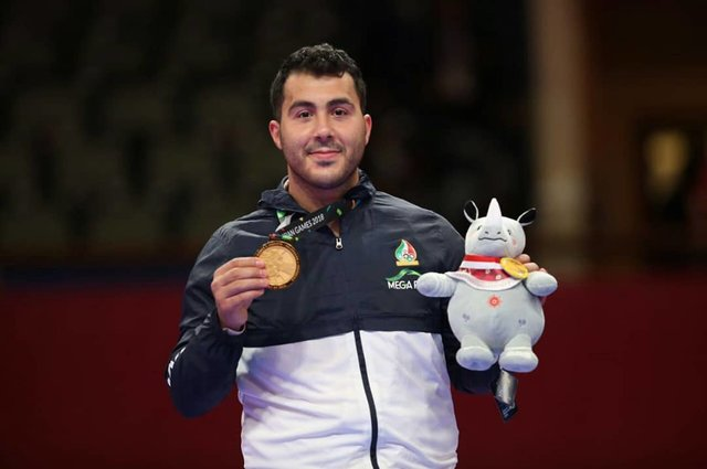Sajad Ganjzadeh wins karate gold medal in men's +84kg
