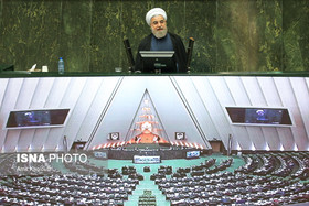 President Rouhani appears before parliament