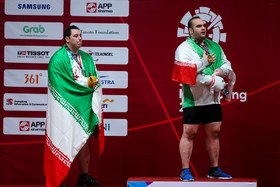Behdad Salimi, the 2012 Olympic gold medalist, and Saeed Ali Hosseini won the gold and silver medals of 2018 Asian Games respectively in the weightlifting competitions of super heavyweight category.